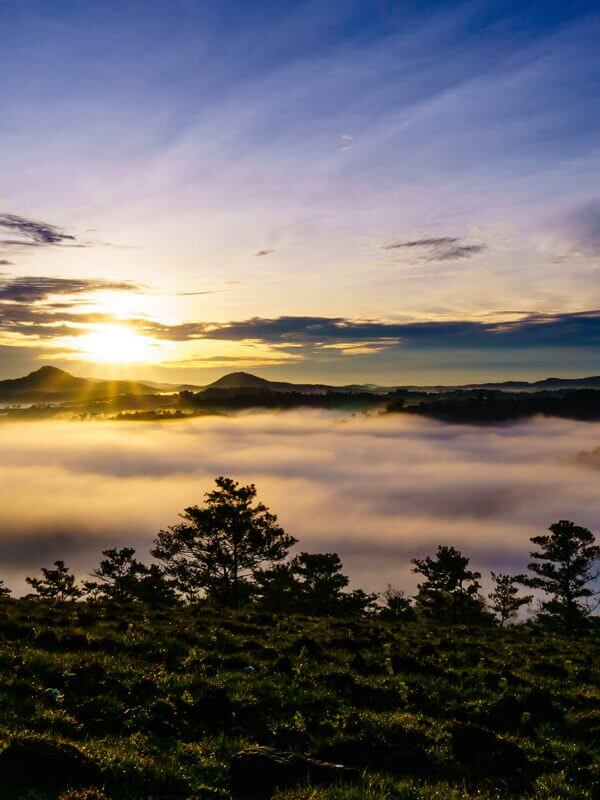 Da Lat Sunset Clouds